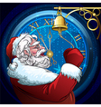 The ringing Santa Claus vector image vector image