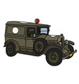 the vintage military ambulance vector image vector image