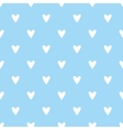Tile pattern with white hearts on blue background vector image vector image