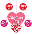 Valentines Day Sale And Discount Tags vector image