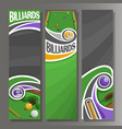 vertical banners for billiards vector image