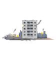 war destroyed city buildings vector image vector image