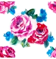Watercolor rose pattern vector image vector image