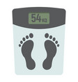 weight scale flat icon fitness and sport vector image vector image