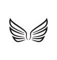 wing icon design template isolated vector image vector image