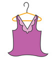 woman t-shirt without sleeves hand drawn design vector image vector image