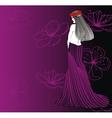 women strip pink vector image vector image