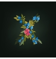 x letter Flower alphabet Colorful font vector image