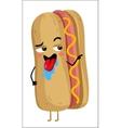 Funny hot dog isolated cartoon character vector image