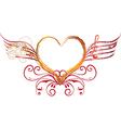 heart art and rock vector image