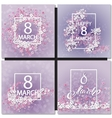 Abstract Purple Floral Greeting card vector image