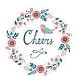 Cheers stylish concept card vector image