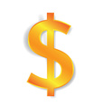 dollar currency sign vector image