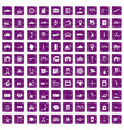 100 loader icons set grunge purple vector image vector image