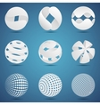 Abstract creative spheres vector image vector image
