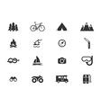 Active recreation icon set vector image