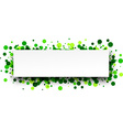 Banner with green confetti vector image vector image
