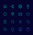 basic icons for web linear set vector image vector image