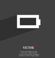 Battery empty icon symbol Flat modern web design vector image vector image