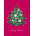 beautiful christmas tree christmas card vector image