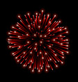 beautiful red firework bright salute isolated on vector image vector image