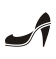 Black high heel vector image
