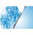 Bright blue tech backdrop vector image vector image