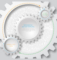 business template circuit board with 3d gears vector image vector image