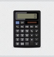 calculator isolated on transparent background vector image
