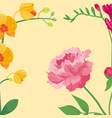 cartoon petal vintage floral background vector image vector image