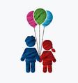 children icon love icon couple icon vector image vector image