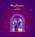christmas greting card vector image vector image