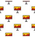 computer pattern flat vector image vector image