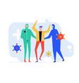 coronavirus disease - colorful flat design style vector image