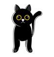 cute cat icon sketch vector image