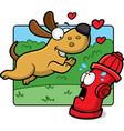 dog hydrant vector image