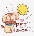 dog on sunny day cute cartoons vector image