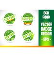 Eco Food Badge Logo vector image vector image