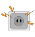 electric plug on white background vector image