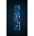 Exclamation mark font from numbers vector image vector image
