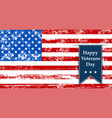 flag america to the day veterans retro vector image vector image