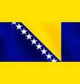 flag of bosnia and herzegovina - vector image vector image