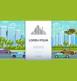 flat eco city landscape concept vector image