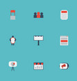 flat icons man with banner placard social media vector image vector image