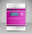 flyer magazine cover brochure template design