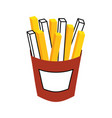 french fries fast food tasty fresh vector image vector image