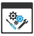 Gear Tools Calendar Page Toolbar Icon vector image vector image