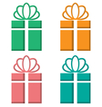 Gift boxes cutout on different backgrounds on vector image