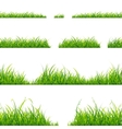 Green Grass Line Set vector image