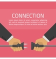 Hand connect plug vector image vector image